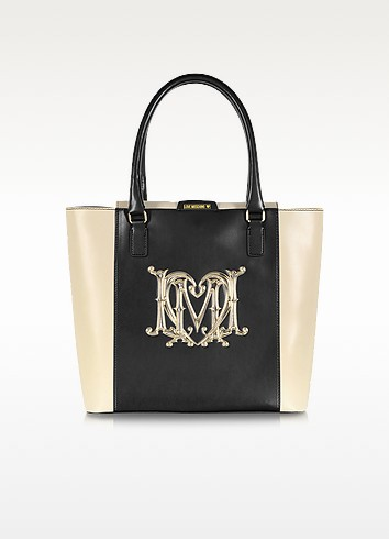 Color Block Signature Tote - Moschino