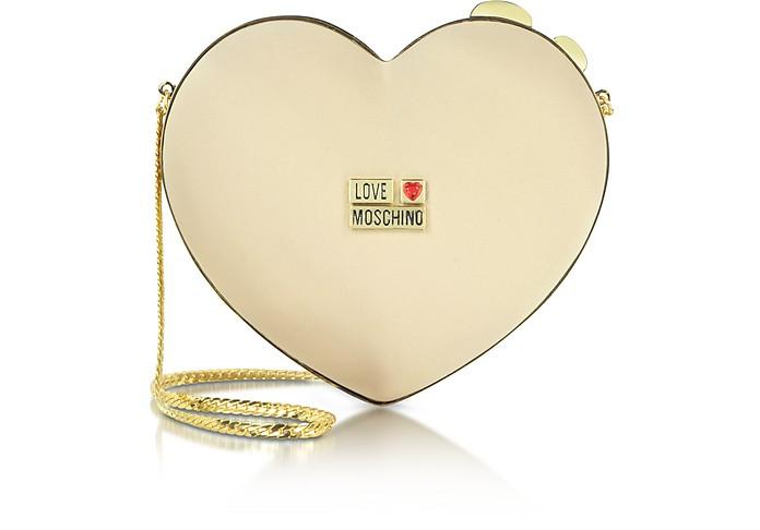 Love Moschino - 心型缎面扣锁手包 - Moschino 摩斯基诺