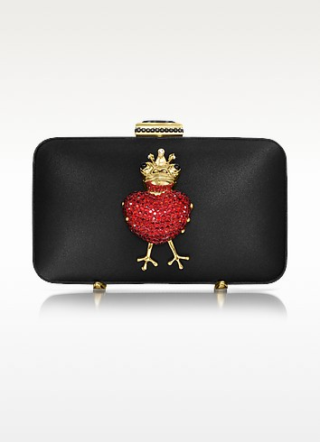 Red Heart Satin Clutch - Moschino