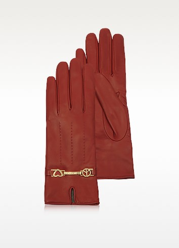 Cheap and Chic - Red Leather Gloves - Moschino