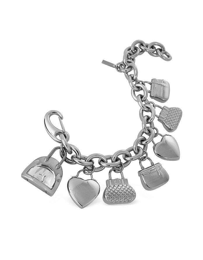 Time For Shopping - Stainless Steel Charm Bracelet Watch - Moschino
