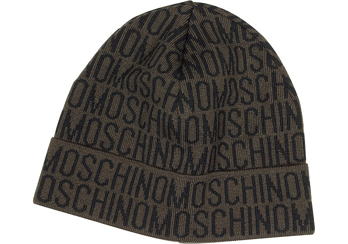 Moschino Signature Woven Wool Blend Men's Hat - Moschino