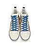 Pop White and Blue Canvas Sneaker - Moschino