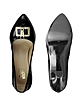Clothespin Buckle Patent Leather Pumps - Moschino