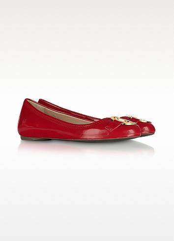 Love Moschino - Red Patent Ballerina Shoes - Moschino