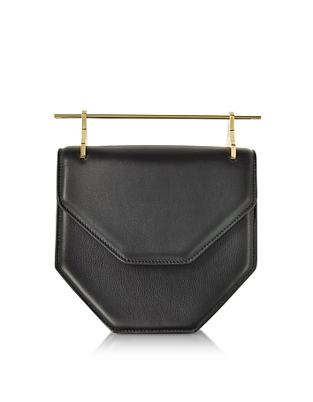 M2Malletier - Amor Fati Black Leather Shoulder Bag