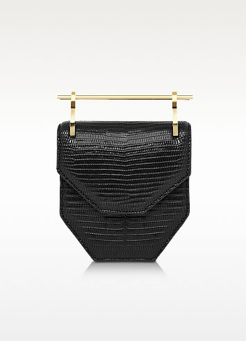 Mini Amor Fati Black Lizard Shoulder Bag - M2Malletier