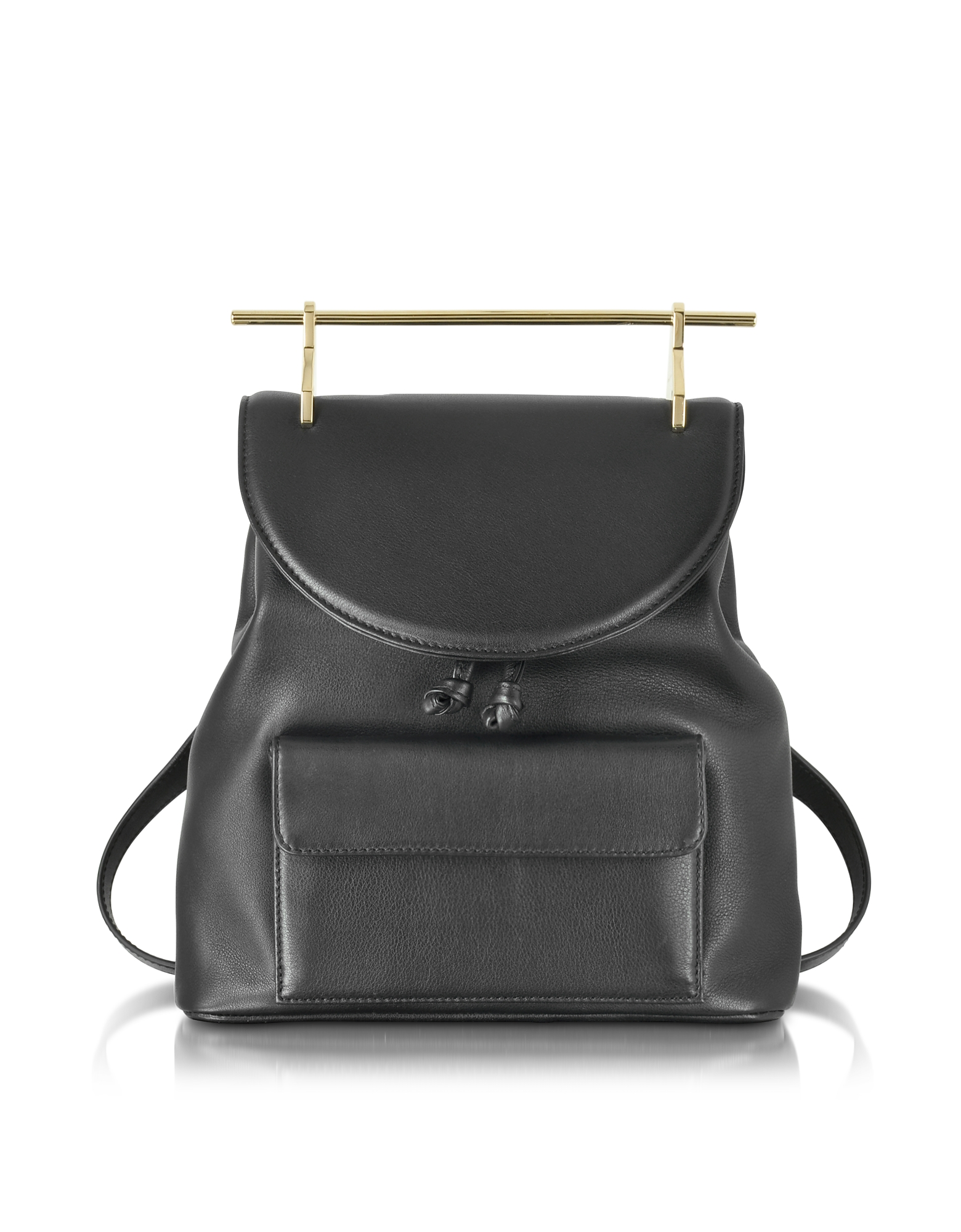 M2Malletier Handbags, Black Leather Backpack