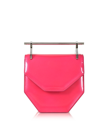 M2Malletier - Mini Amor Fati Neon Pink Leather Shoulder Bag