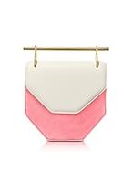 M2Malletier Amor Fati Ivory Leather & Blush Suede Shoulder Bag mt130217-006-00