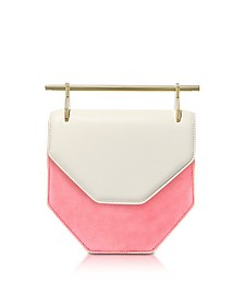 Amor Fati Ivory Leather & Blush Suede Shoulder Bag - M2Malletier