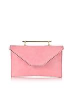 M2Malletier Annabelle Candy Pink Suede Clutch w/Chain mt130217-013-00