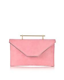 Annabelle Candy Pink Suede Clutch w/Chain - M2Malletier