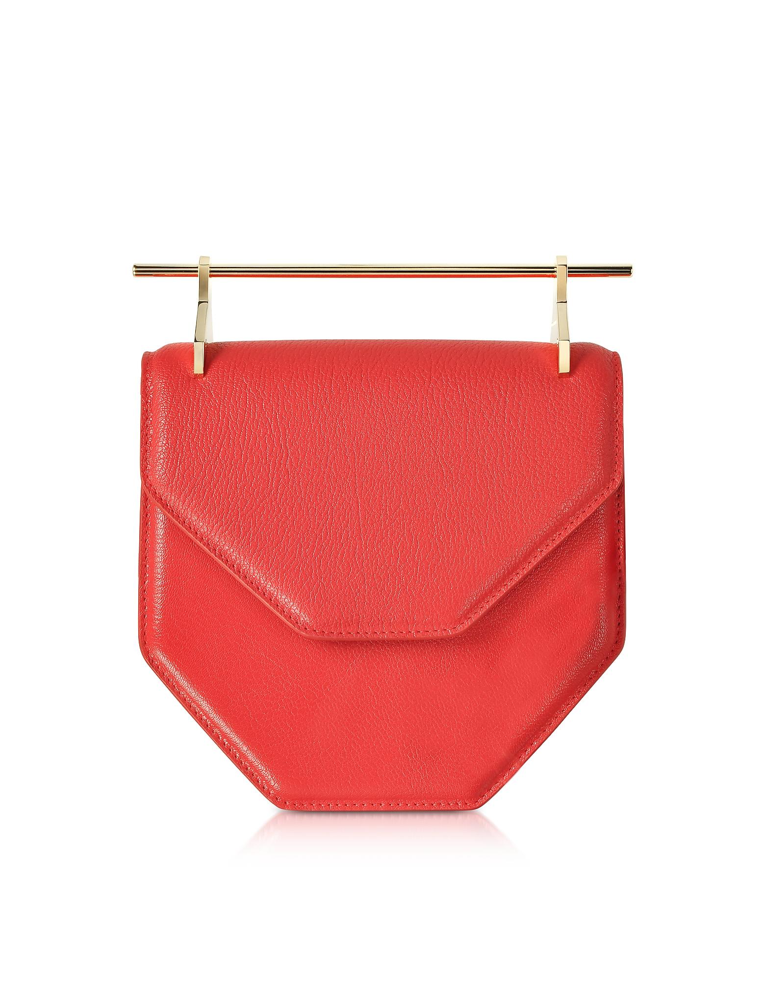 Amor Fati Hibiscus Leather Shoulder Bag