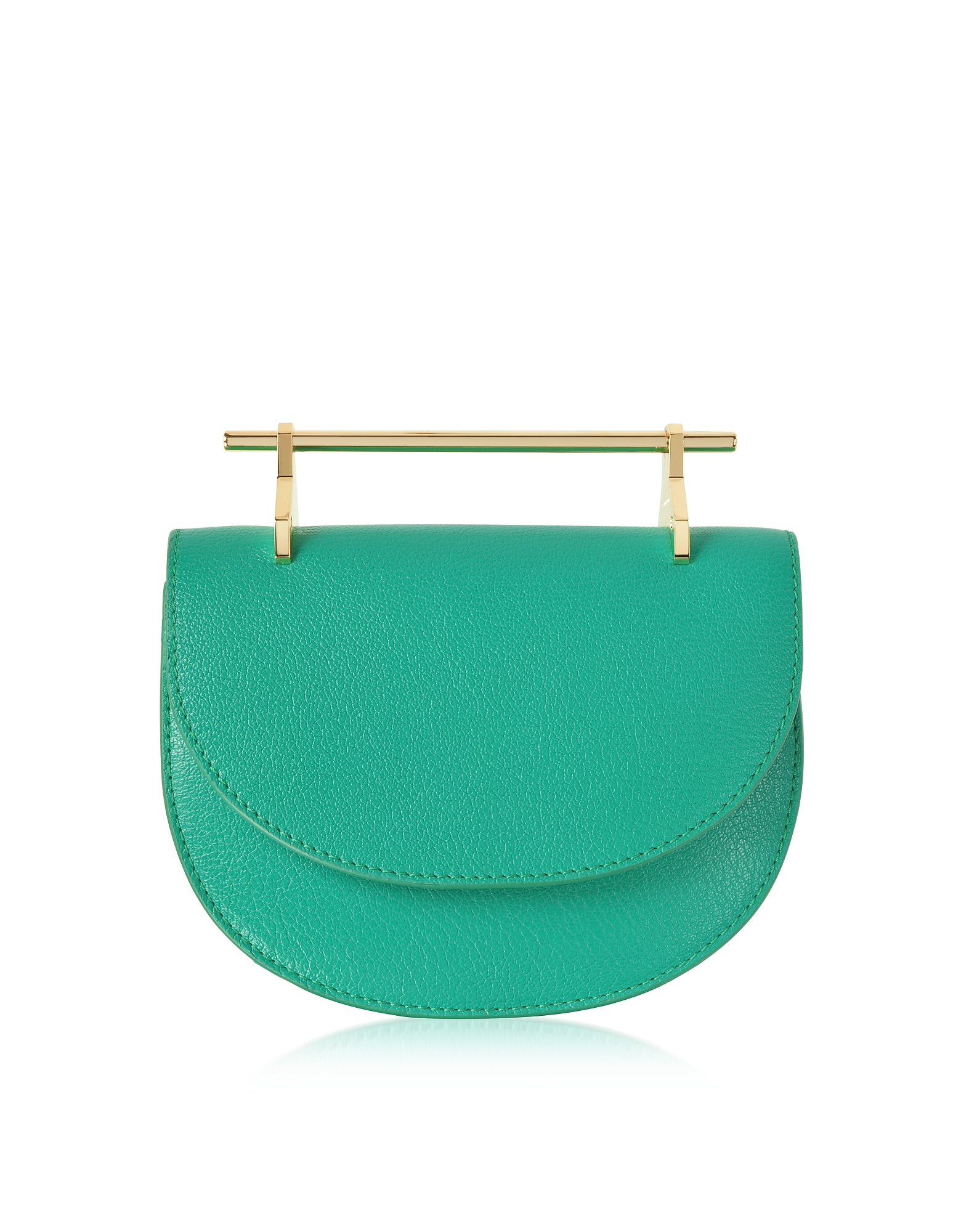 Pure Jade Lux Leather Mini Half Moon Bag