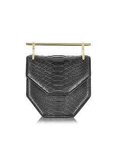 Mini Amor Fati Black Python and Leather Crossbody Bag - M2Malletier