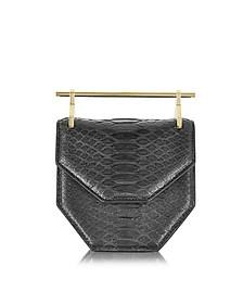 Mini Amor Fati Black Python and Leather Crossbody Bag - M2Malletier