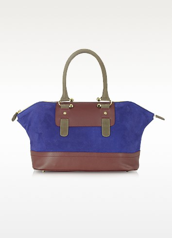 Laurette - Multicolor Leather Satchel - MySuelly