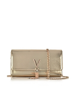 VALENTINO by Mario Valentino Diva Metallic Eco-Leather Shoulder Bag
