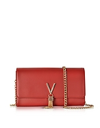 VALENTINO by Mario Valentino Diva Red  Eco-Leather Shoulder Bag