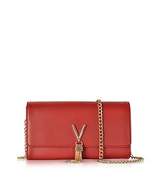 Diva Red Eco-Leather Shoulder Bag - Valentino by Mario Valentino