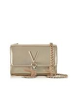 VALENTINO by Mario Valentino Diva Mini Gold Eco-Leather Shoulder Bag mv130217-003-00