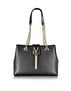 VALENTINO by Mario Valentino Diva Large Black Eco Leather Shoulder Bag mv130217-005-00