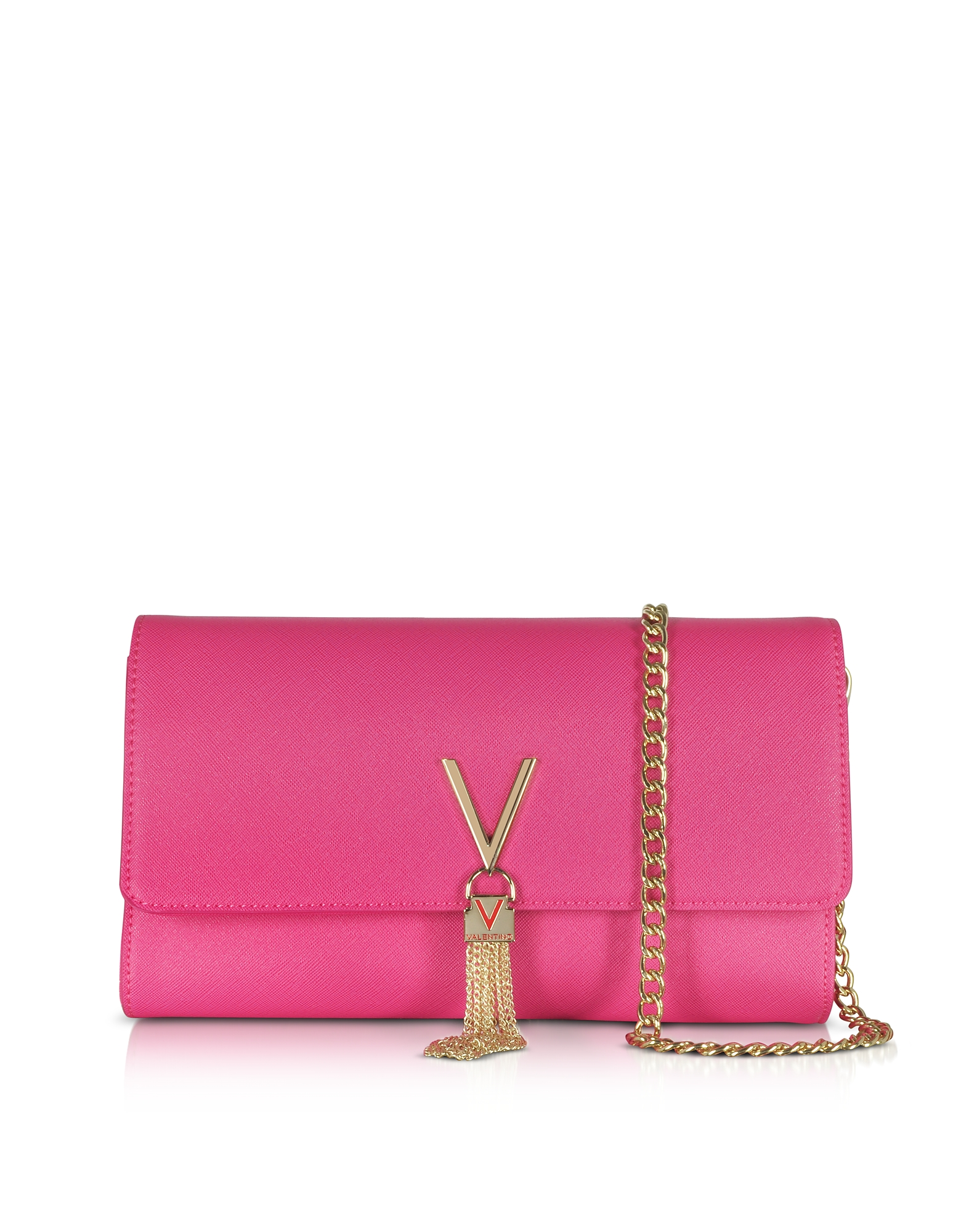 Valentino by Mario Valentino Handbags, Bouganville Saffiano Leather Divina Shoulder Bag