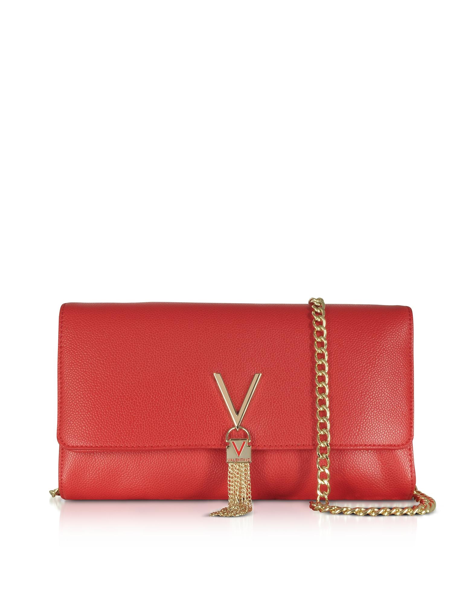 Valentino by Mario Valentino Designer Handbags, Lizard Embossed Eco Leather Divina Shoulder Bag