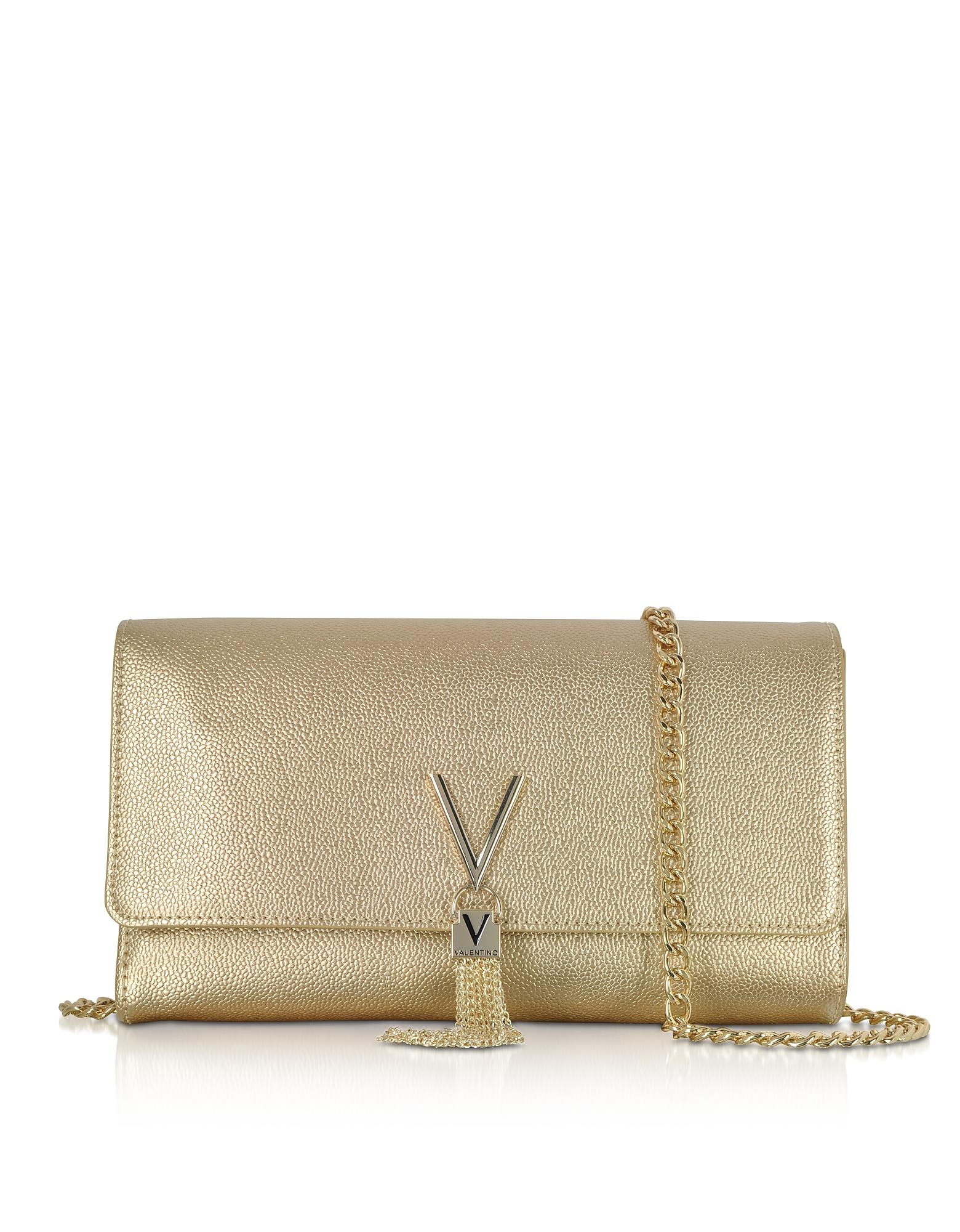 Laminated Lizard Embossed Eco Leather Divina Shoulder Bag