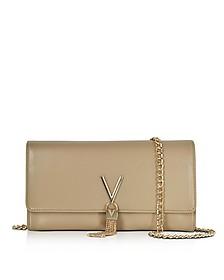 Diva Beige Eco-Leather Shoulder Bag - Valentino by Mario Valentino