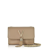 VALENTINO by Mario Valentino Diva Mini Beige Eco-Leather Shoulder Bag