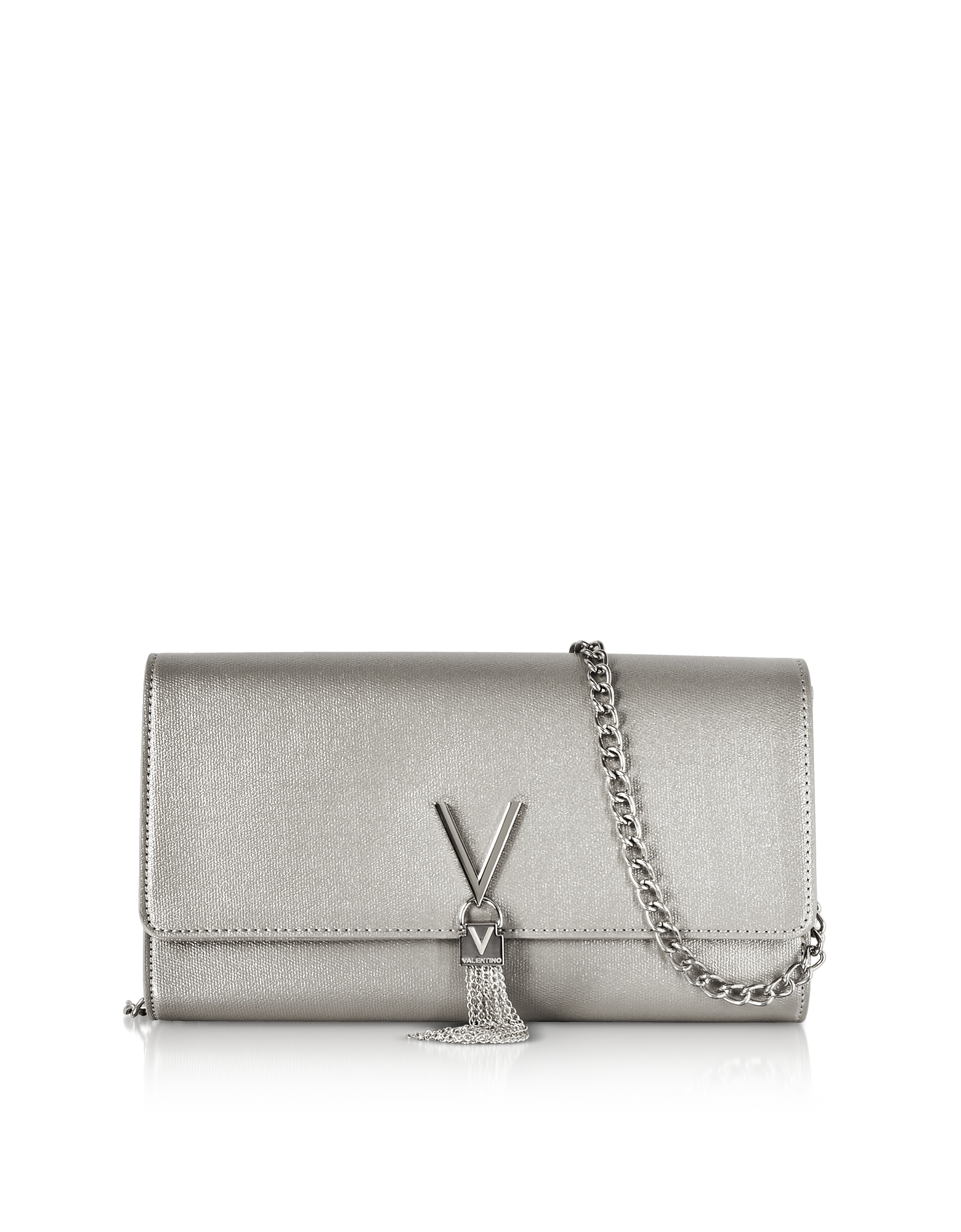 Image of Valentino by Mario Valentino Designer Handbags, Eco Grained Leather Marilyn Shoulder Bag