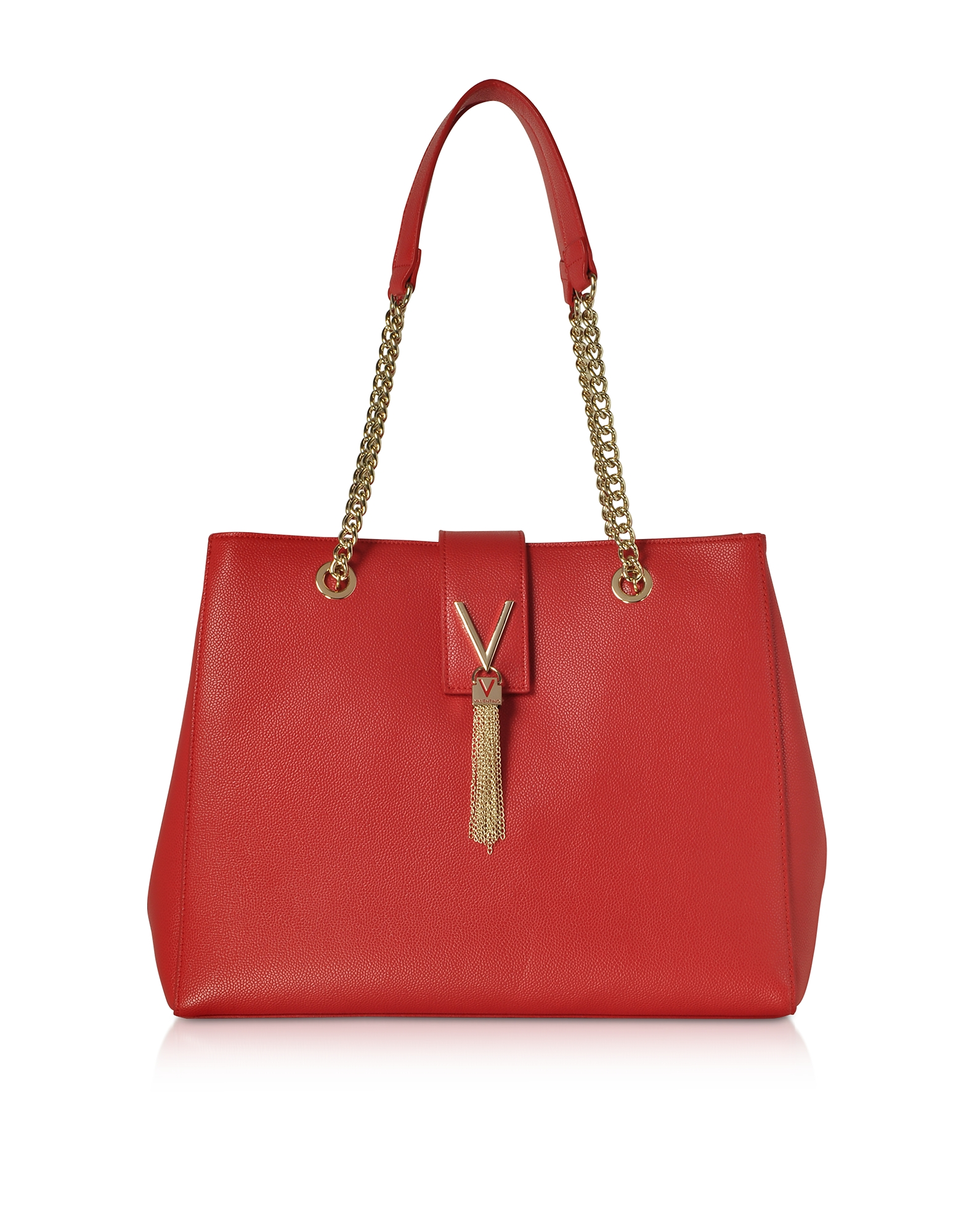VALENTINO BY MARIO VALENTINO Lizard Embossed Eco Leather Divina Tote Bag