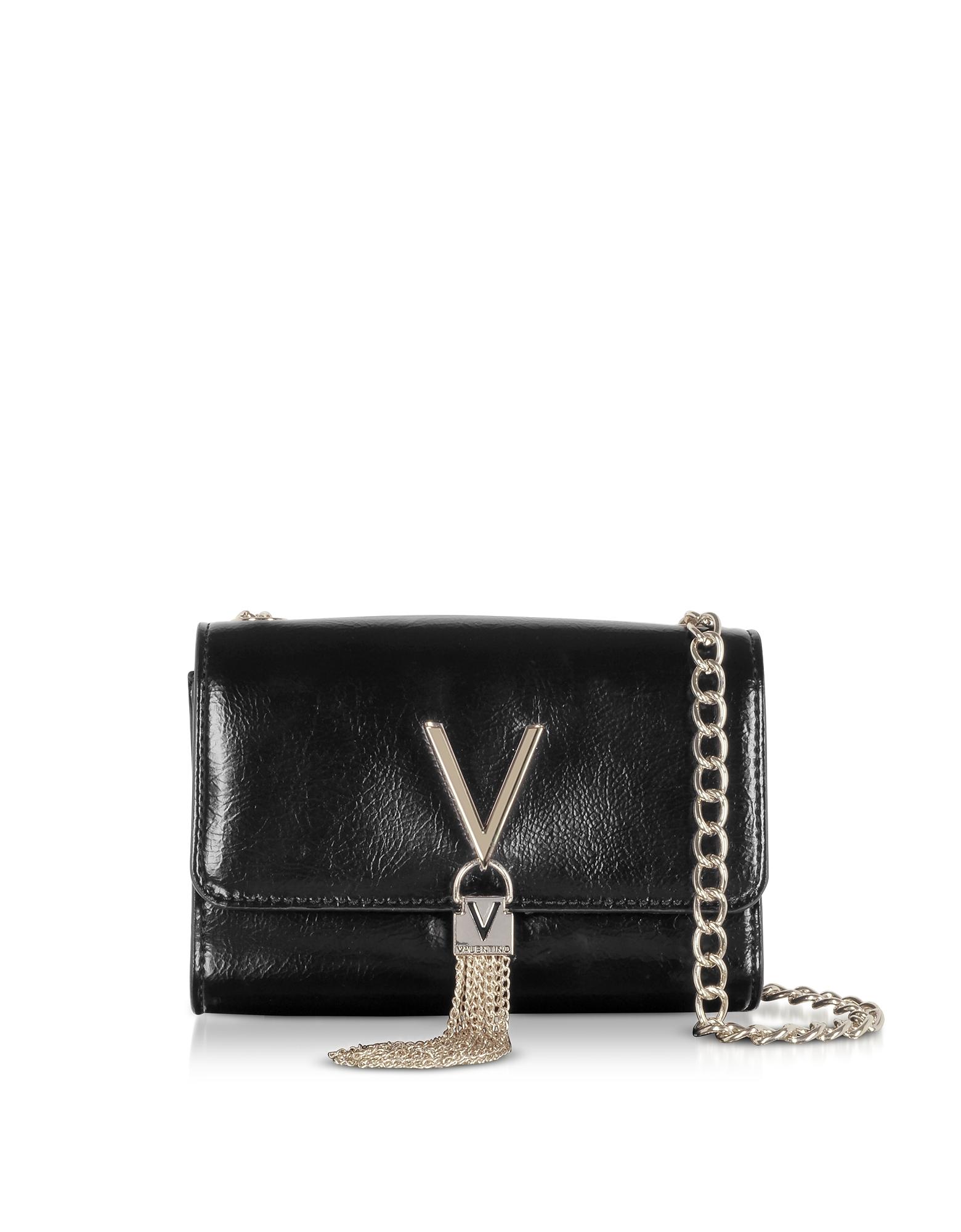Oboe Shiny Eco Leather Shoulder Bag