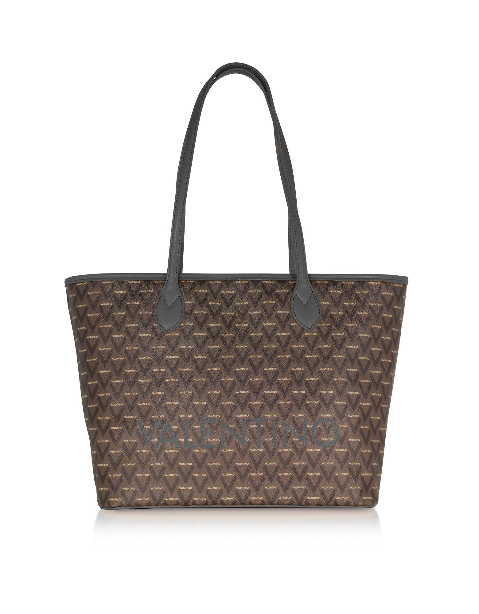 Liuto Signature Eco Leather Shoulder Bag, Black