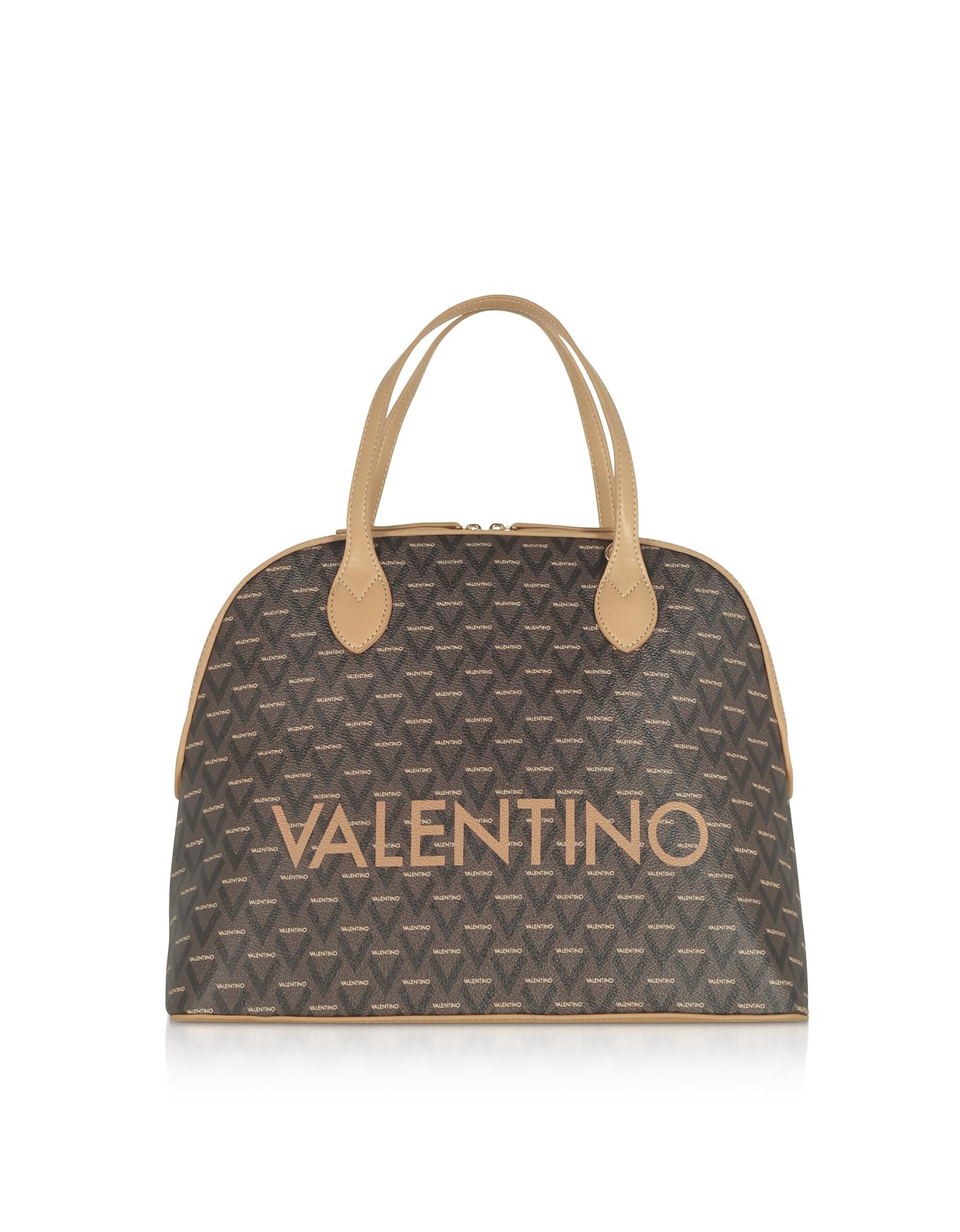 Valentino by Mario Valentino Designer Handbags, Liuto Signature Eco Leather Bowler Bag