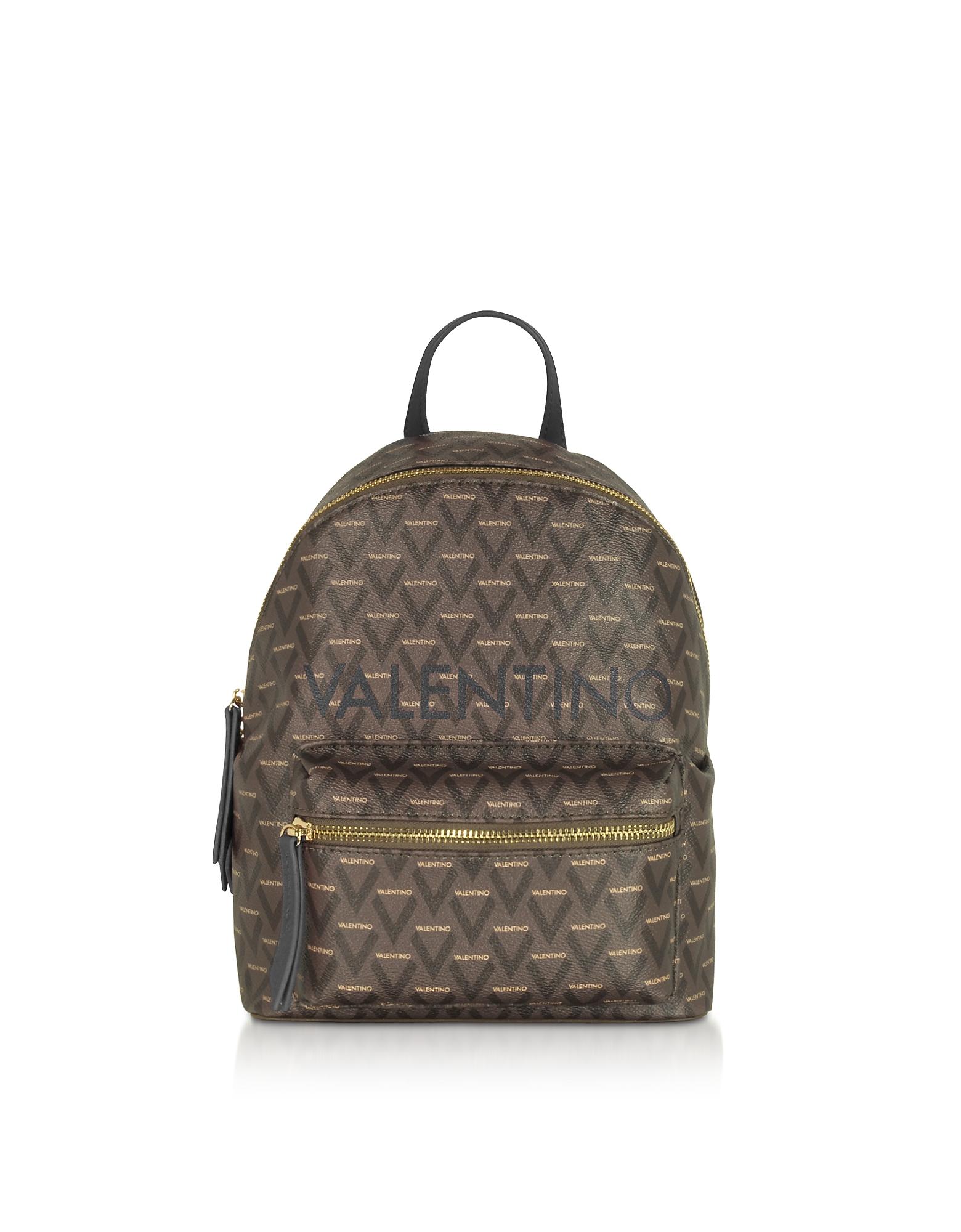 Valentino by Mario Valentino Designer Handbags, Liuto Signature Eco Leather Backpack