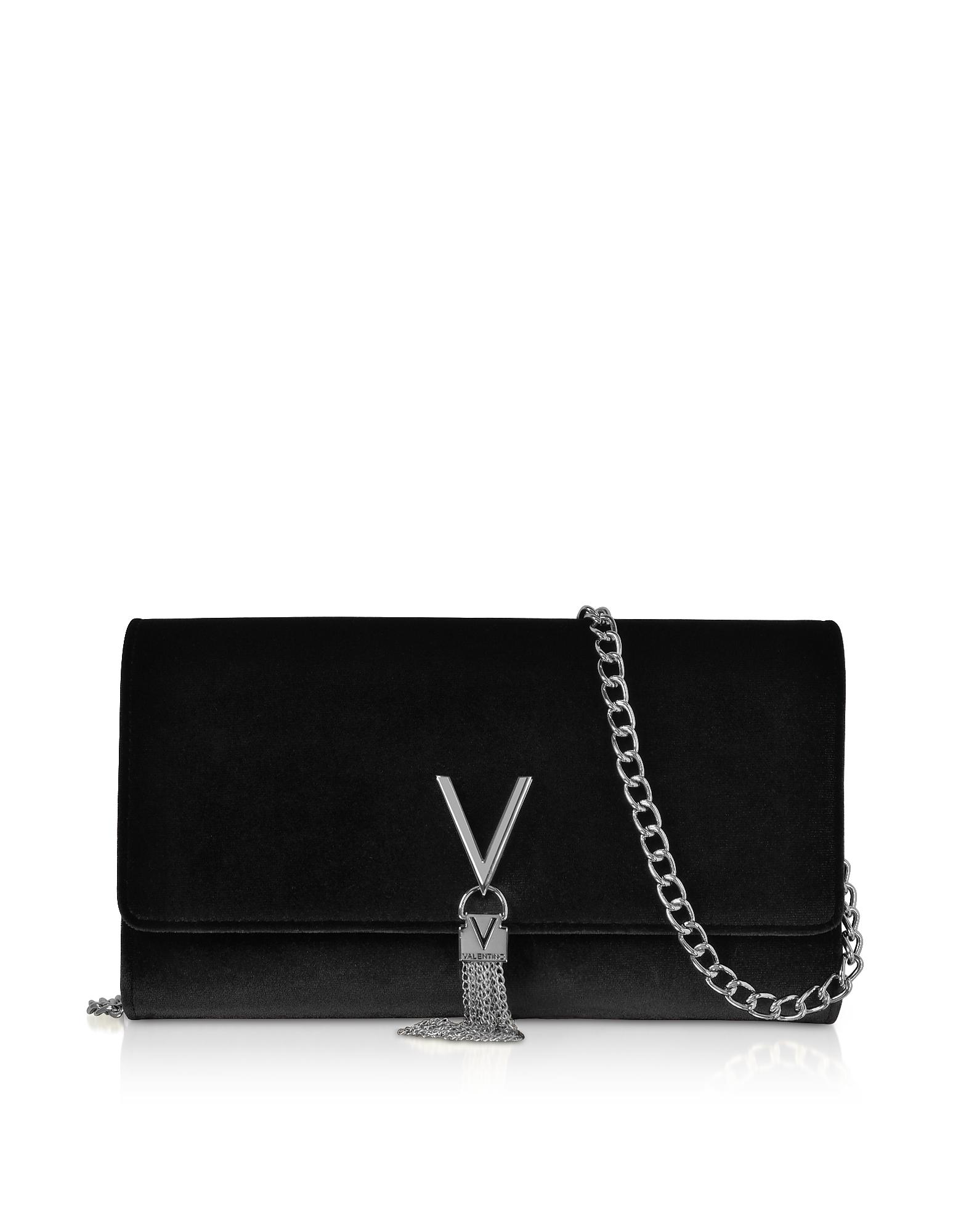 Black Velvet Marilyn Shoulder Bag