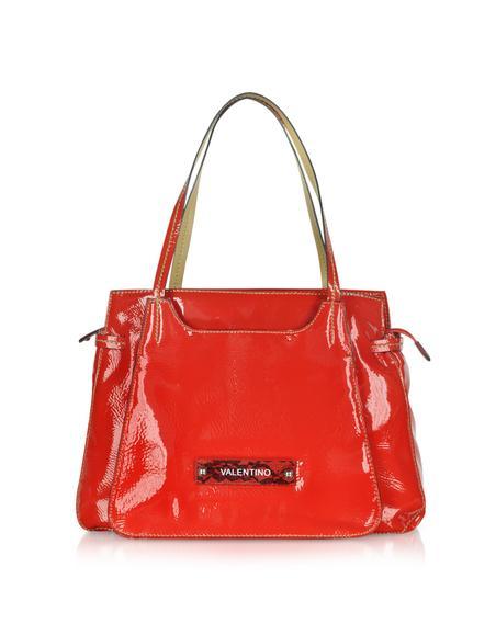 Valentino Allure - Schultertasche aus Textilleder - lackiert