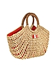 Giuily - Large Straw and Eco Leather Tote - Mario Valentino