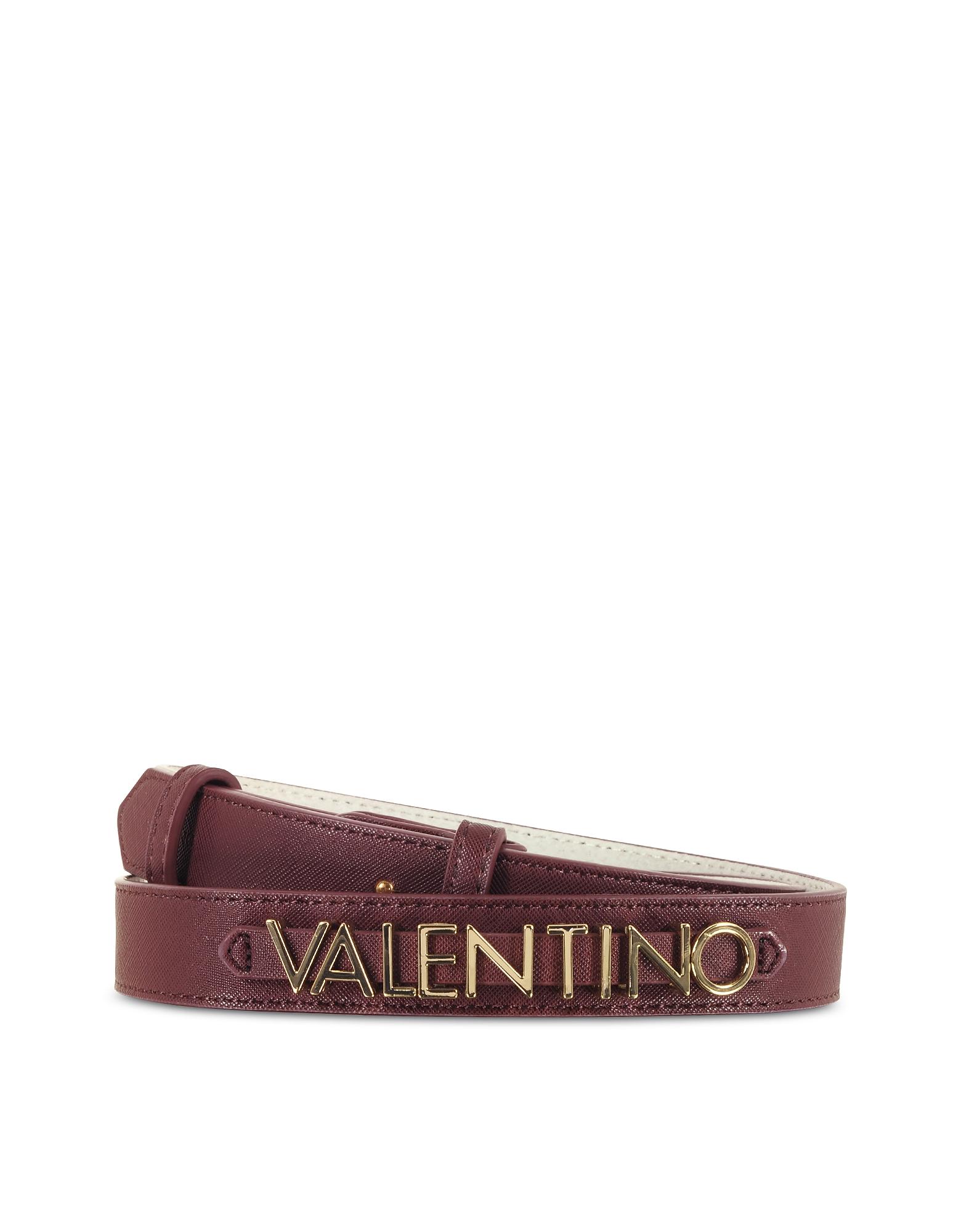 Valentino by Mario Valentino Designer Women's Belts, Sea Winter Purple Eco-Leather Women's Belt
