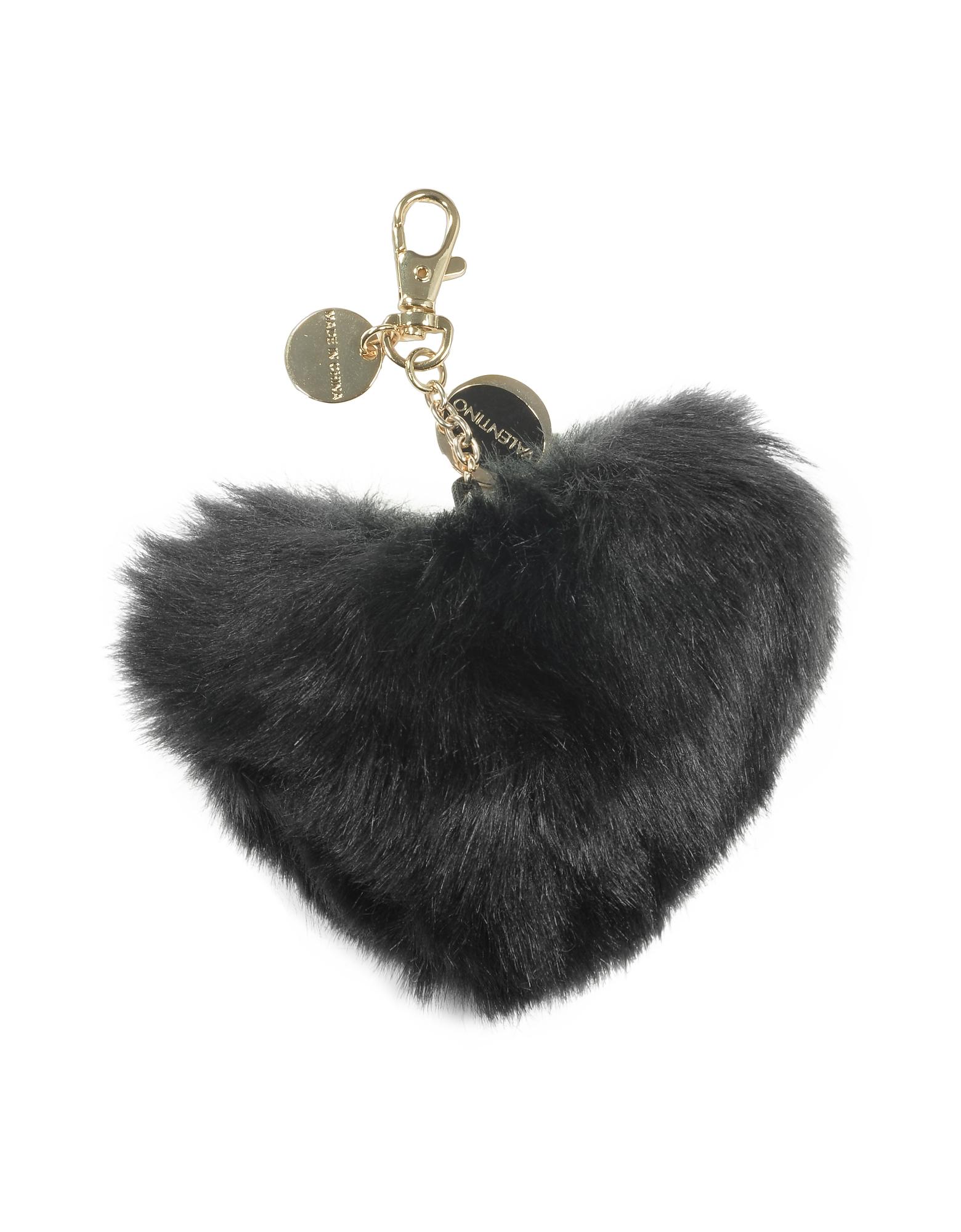 Valentino by Mario Valentino Designer Key Holders, Furry Hear Key-Fob