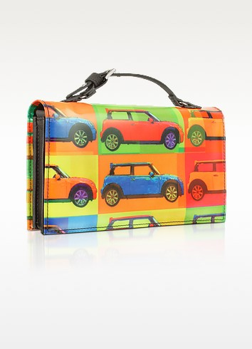 Pop Style - Multicolor Purse Wallet w/Shoulder Strap - MINI