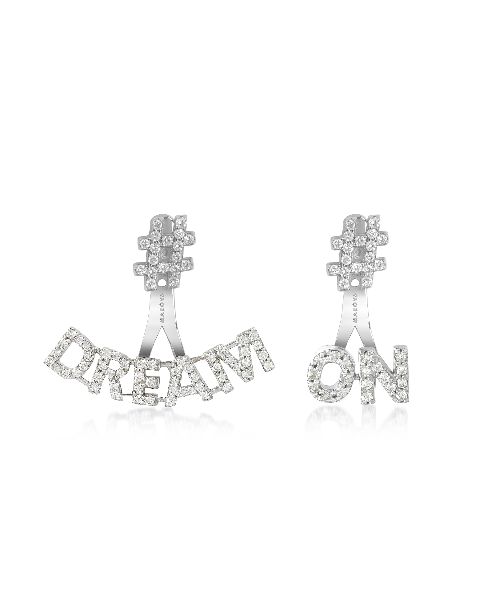 Makova Jewelry Designer Earrings, #Dream #On 18K Gold & 0.82 ctw Diamonds Earrings