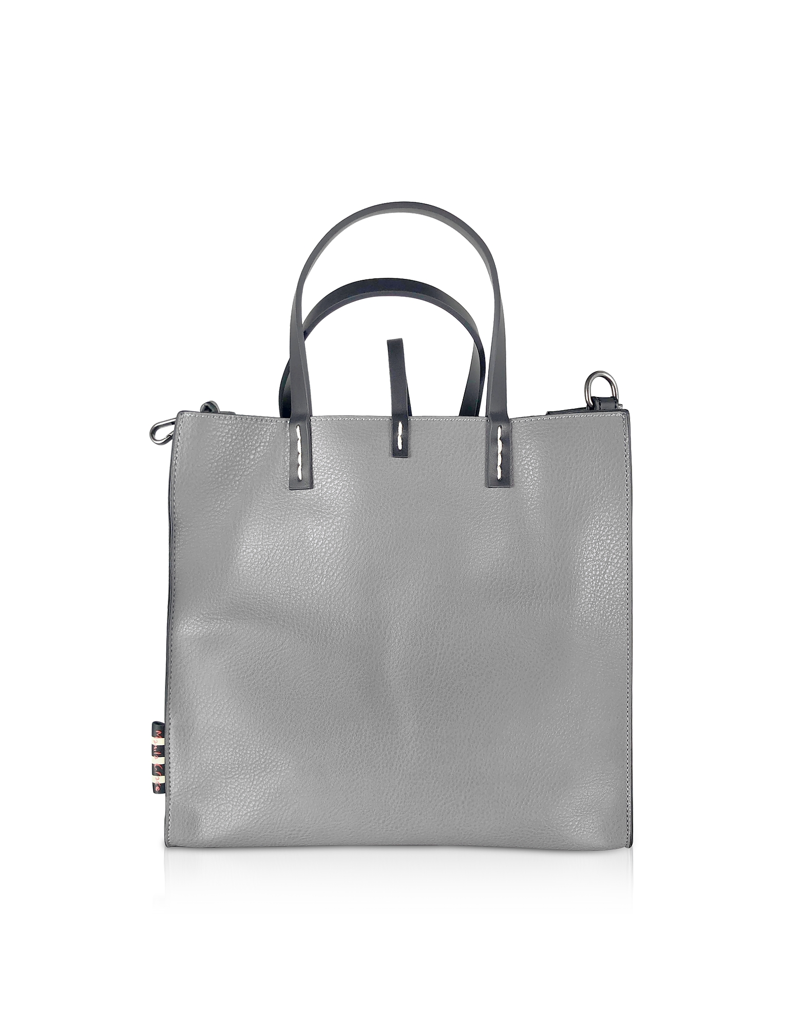 Manila Grace Designer Handbags, Cement Gray Felicia Tote Bag