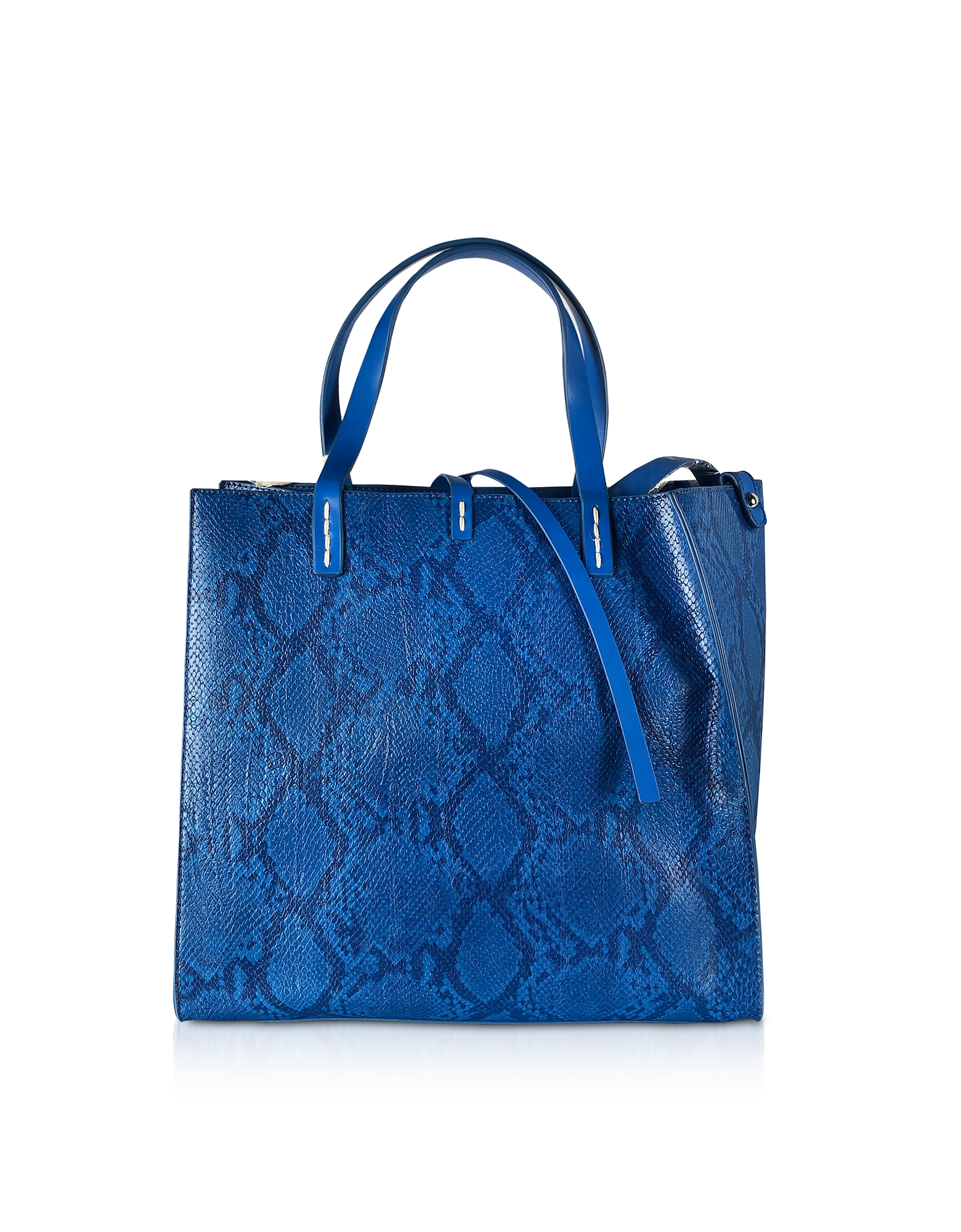Manila Grace Designer Handbags, Python Embossed Tote Bag