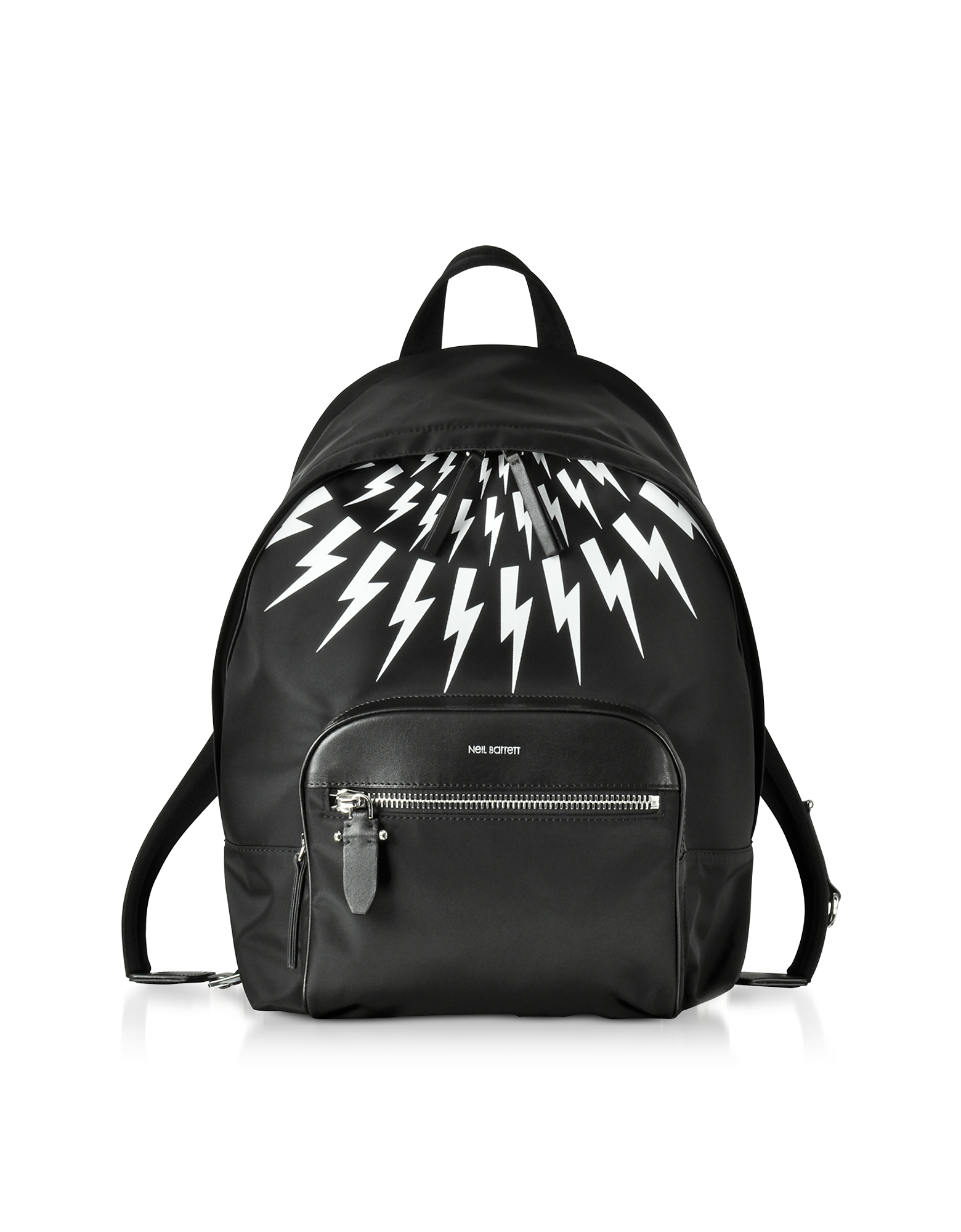 Neil Barrett Backpacks, Black and White Nylon Classic Backpack