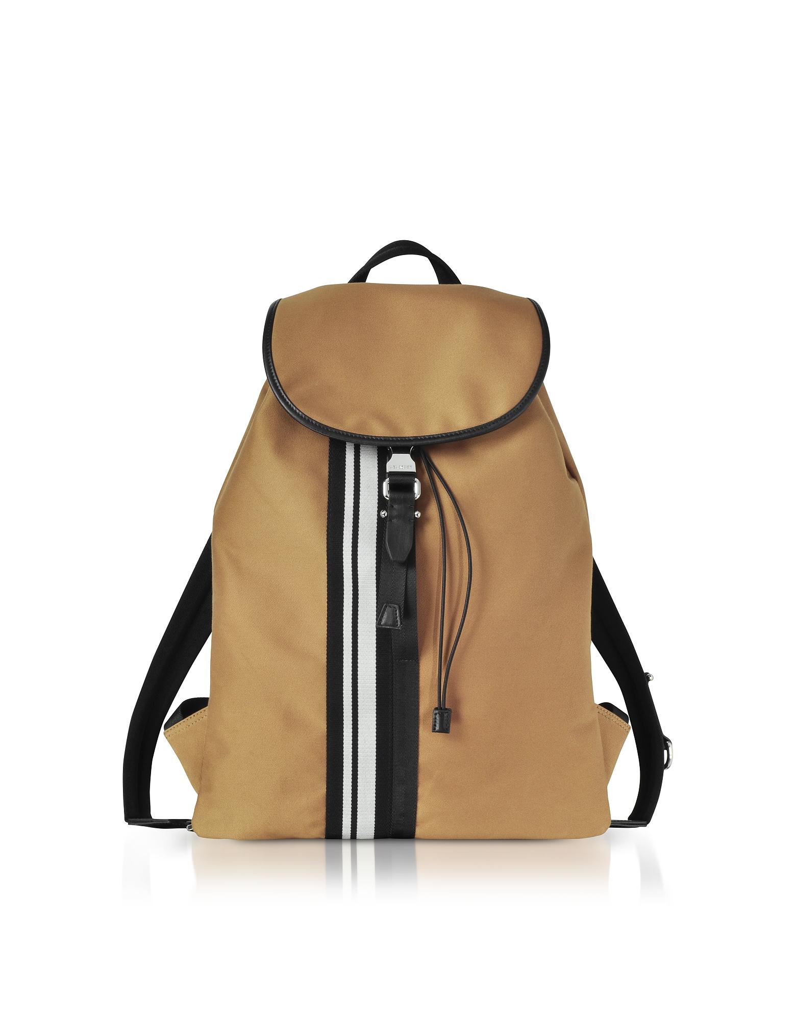 Желтовато- Коричневый Рюкзак из Ткани в Полоску