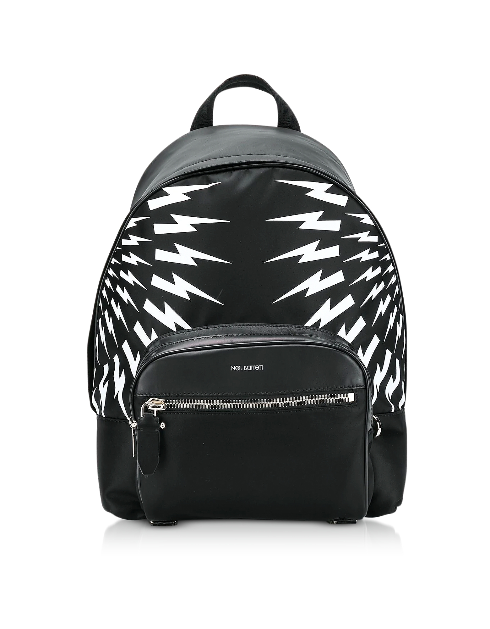 Thunderbolt Classic Backpack. Thunderbolt Classic Backpack crafted in nylon with leather detail and thunderbolt graphic, has the designer&